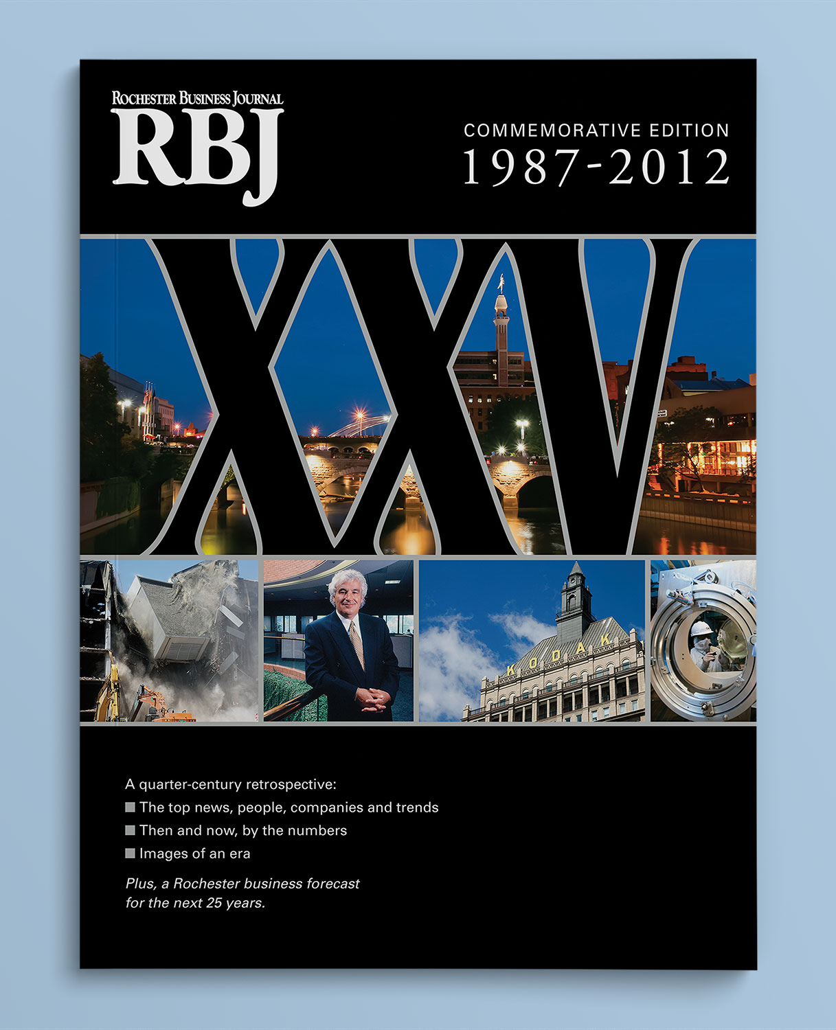 The cover of a glossy publication entitled 'RBJ Commemorative Edition 1987 - 2012.'