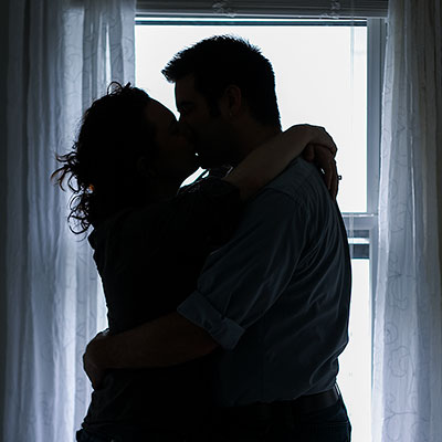 A photo of friends taken for their engagement.