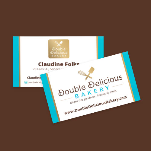Double Delicious Bakery business cards